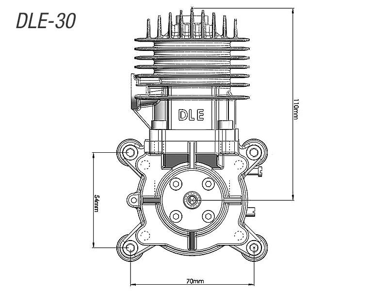 Dle 30 Two Stroke Petrol Engine
